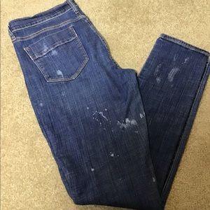 Old Navy Denim White Splatter Jeans